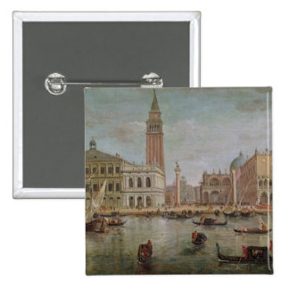 View of Venice, 1719 15 Cm Square Badge