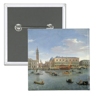 View of Venice from the Island of San Giorgio, 169 15 Cm Square Badge