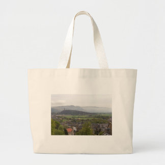 View of Wallace Monument in Scotland Canvas Bags