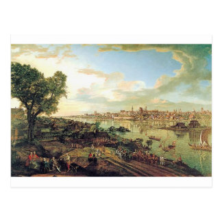 View of Warsaw from Praga by Bernardo Bellotto Postcard