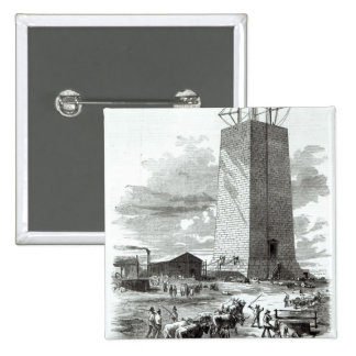 View of Washington Monument 15 Cm Square Badge