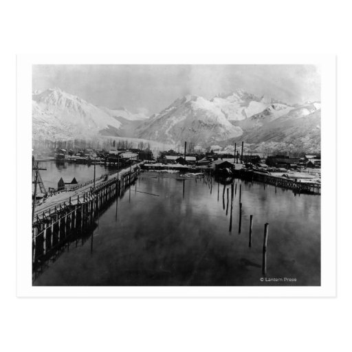 View of waterfront in Valdez, Alaska Photograph Post Cards