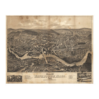 View of Watertown Massachusetts in 1879 Canvas Print