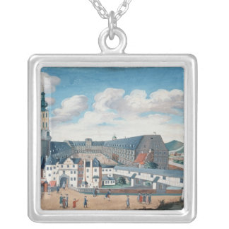 View of Weimar with the Castle of Wilhelmsburg Silver Plated Necklace