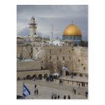 View of Western Wall Plaza, late afternoon Postcard
