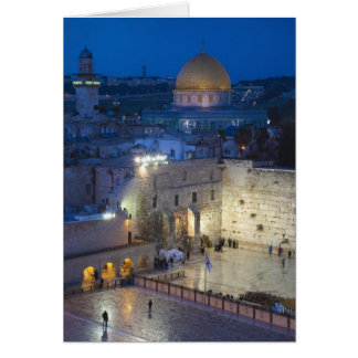 View of Western Wall Plaza, late evening Greeting Card
