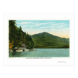 View of Whiteface Mountain from Moose Island Postcard