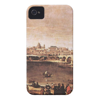 View of Zaragoza by Diego Velazquez iPhone 4 Case-Mate Cases