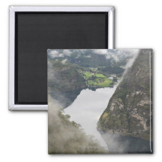 View on Aurlandsdalen lake and valley, a Magnet