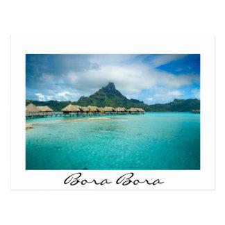 View on Bora Bora island Postcard