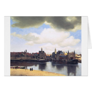 View on Delft by Johannes Vermeer Greeting Card
