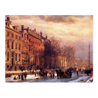 View on Heerengracht in Amsterdam by Cornelis Postcard