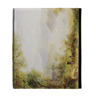 View on the Hudson River, c.1840-45 (oil on panel) iPad Folio Case