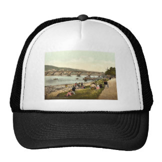 View on the Tay, Perth, Scotland classic Photochro Hats