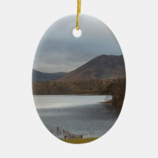 View over Derwentwater Keswick Ceramic Ornament