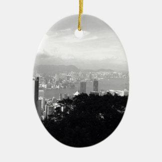 View Over Hong Kong Ceramic Ornament