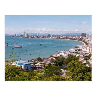 View over Pattaya bay Post Card