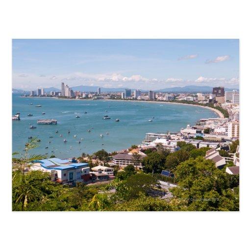 View over Pattaya bay. Post Card