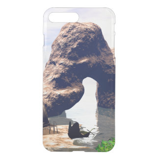 View over the sea with boat iPhone 7 plus case