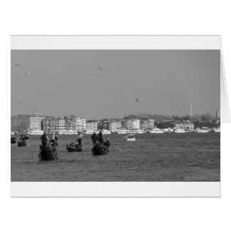 View through grand canal in venice card