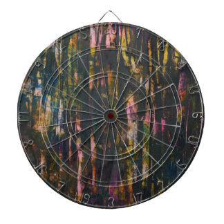 View through the dark forest dartboard