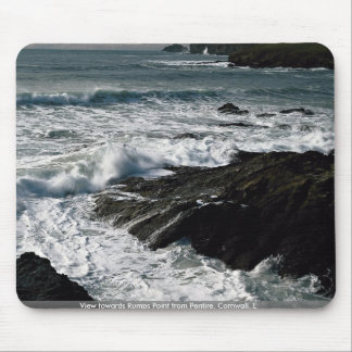 View towards Rumps Point from Pentire, Cornwall, E Mouse Pads