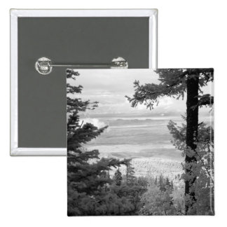 View west from crest of Sandia, Mountains, 15 Cm Square Badge