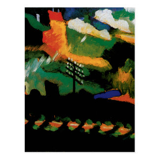 View With Railway and Castle by Kandinsky Postcard