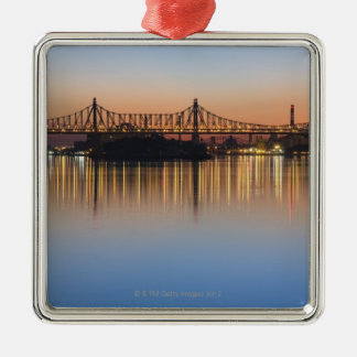 Viewed from Manhattan over the East River. Metal Ornament