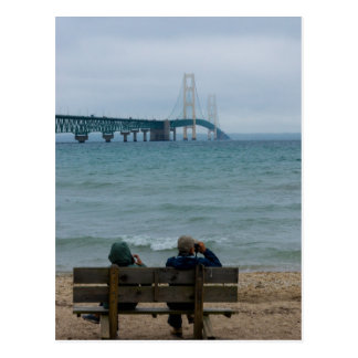 Viewing Mackinac Bridge Postcard
