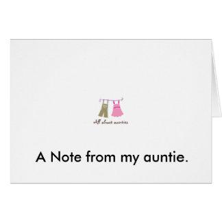 viewlogo.aspx, A Note from my auntie. Card