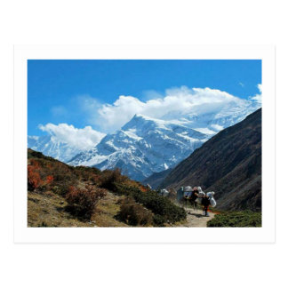 Views from Nepal on way to MOUNT EVEREST Postcard