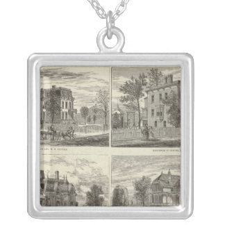 Views in Maywood, Cook County, Illinois Silver Plated Necklace