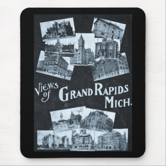 Views of Grand Rapids Michigan Vintage Mouse Pad