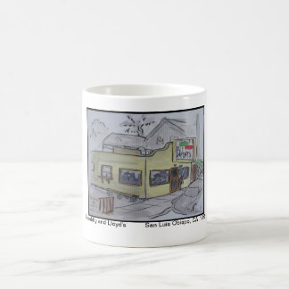 Views of San Luis Obispo, Scrubby and Lloyd's Coffee Mug