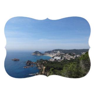 Views of Spanish Coast 13 Cm X 18 Cm Invitation Card