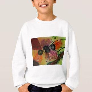 Vifteformede blomster sweatshirt