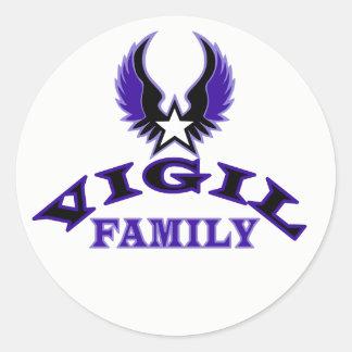 Vigil Family Crest Classic Round Sticker