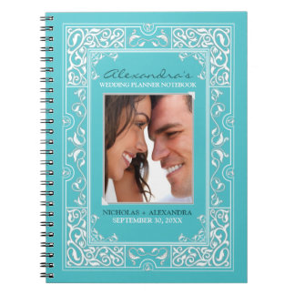 Vignette Bride's Wedding Planner Notebook (aqua)