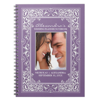 Vignette Bride's Wedding Planner Notebook (purple)