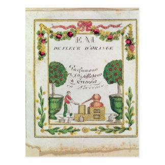 Vignette of 'Eau de Fleur d'Orange' Postcard