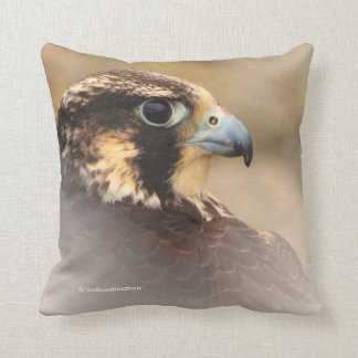 Vignetted Profile of a Peregrine Falcon Cushion