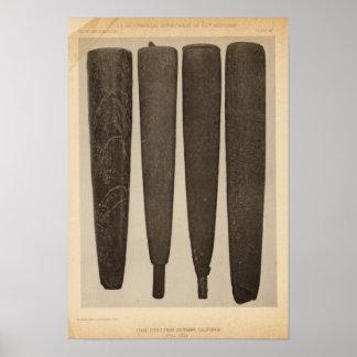 VII Stone pipes, So Calif Poster