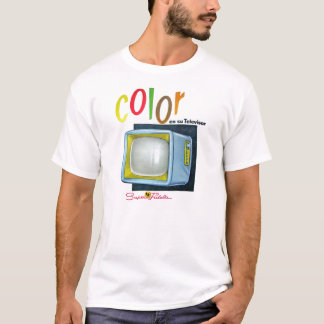 Viintage Kitsch Color TV 60's Ad T-Shirt