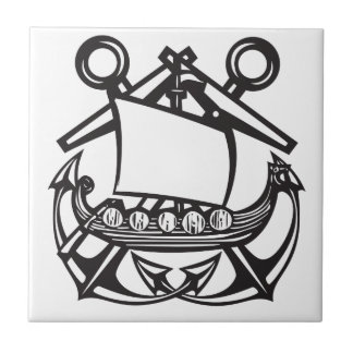 Viking Anchor Small Square Tile