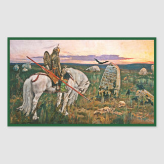 Viking at Crossroads Rectangular Sticker