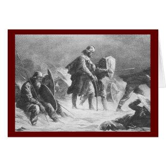 Viking Battle by Knud Bergslien Card