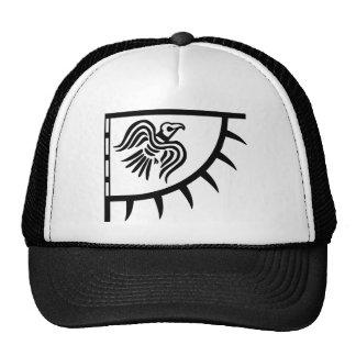 Viking Black Raven Banner Cap