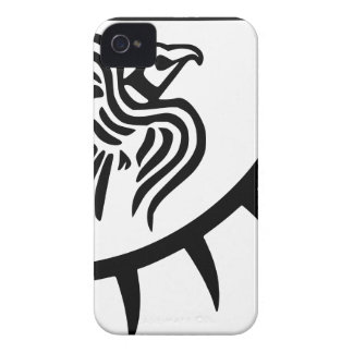 Viking Black Raven Banner iPhone 4 Case-Mate Case
