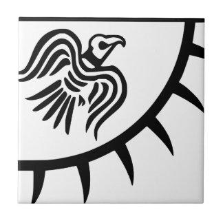 Viking Black Raven Banner Tile